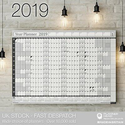 pack   planners   yearly planner annual wall chart year calendar ebay