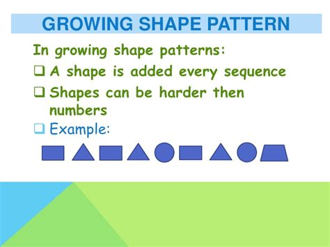 describe the pattern in math repeating and growing patterns