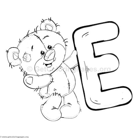 Teddy Bear Alphabet Letter E Coloring Pages Get Color Pages Letters