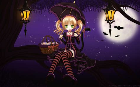 anime girl halloween wallpaper halloween anime wallpapers wallpaper cave