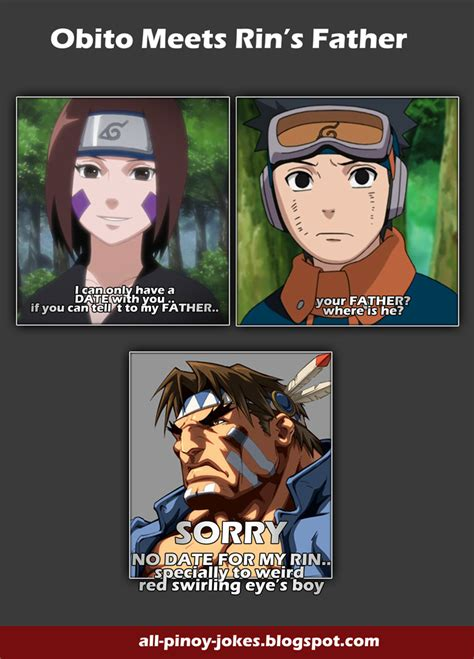 Topi Lgbt obito and rin team anime jokes collection