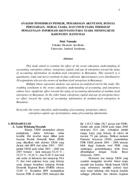 analisis layout perusahaan analisis pendidikan pemilik pemahaman akuntansi budaya