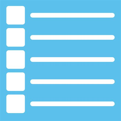 Blus List by Clipart List Icon