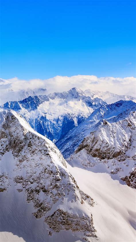 mountains winter peaks snow wallpaper