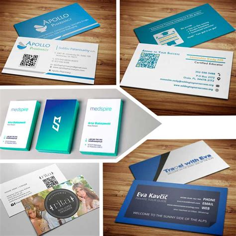 5 Double Sided Vertical Business Card Templates Photo Psd