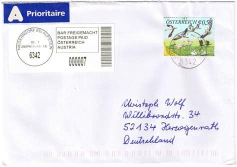 Brief Nach Schweiz Philaseiten De Label Aufklebezettel Auf Briefen Und Karten