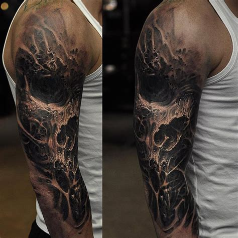 dark sleeve tattoo designs evil designs fantastic