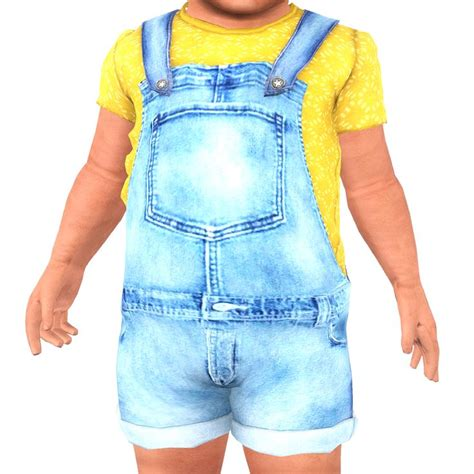 Overall Denim Panda 17 best images about sims 3 toddlers infants cc on gifts for