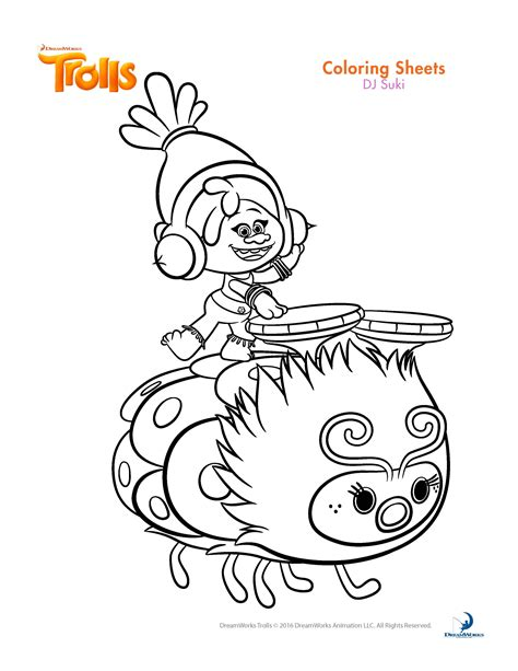 trolls movie coloring pages best coloring pages for kids
