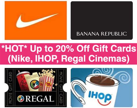 Regal Gift Cards Walgreens - hot up to 20 off gift cards nike ihop regal