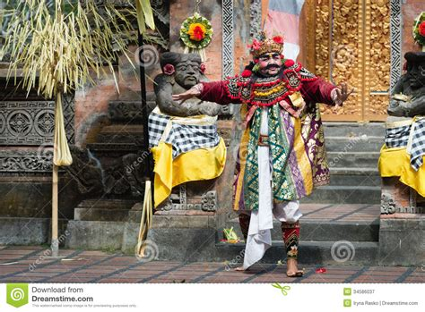 traditional classical barong theatre show  bali