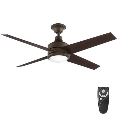 oil rubbed bronze fan home decorators collection mercer 52 in integrated led