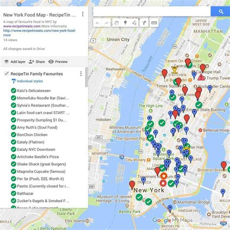 new on the map new york food map use it on the go recipetin eats