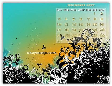 Calendario Diciembre 2007 Calendario Wallpaper Mes De Diciembre 2007 Grupogeek