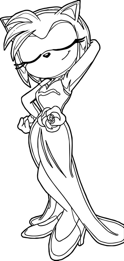 coloring pages of beautiful dresses amy rose beautiful dress coloring page wecoloringpage