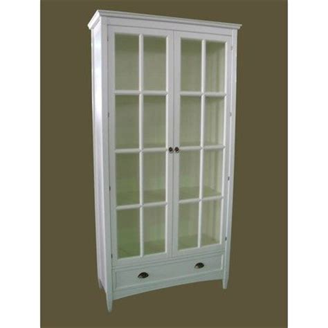 white glass door bookcase julian mcgowan bookcase with glass door in white