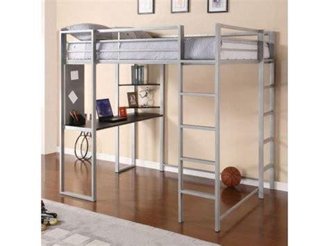 Bunk Bed W Desk Underneath Silver Metal Loft Bed W Desk Underneath For Sale Sachem Ny Patch