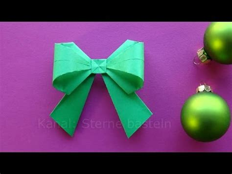 Weihnachtssachen Basteln by Origami Weihnachten Basteln Ideen Schleife Falten Diy