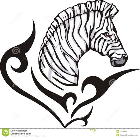 zebra tattoo prices zebra tattoo royalty free stock photo image 26259965