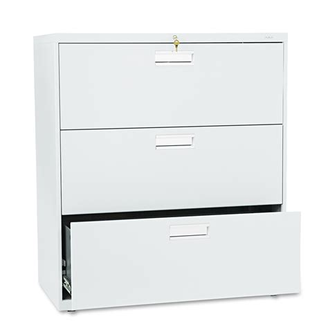 Lateral File Cabinet Parts Hon 600 Series Three Drawer Lateral File 36w X19 1 4d Light Gray Home Furniture Home