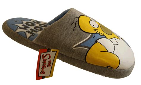 the simpsons slippers mens grey the simpsons slippers homer mules 8 9 10 11 ebay