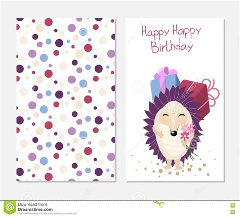 printable birthday cards cute stylish happy birthday card in cute style with cartoon