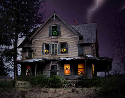 scary house scary halloween 2012 hd wallpapers pumpkins witches spider web bats ghosts