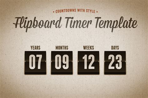 countdown timer template flipboard countdown timer template design panoply