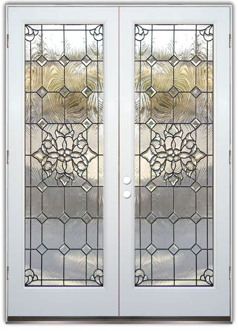 Beveled Glass Door Panels Etched Glass Entry Doors Sans Soucie Glass