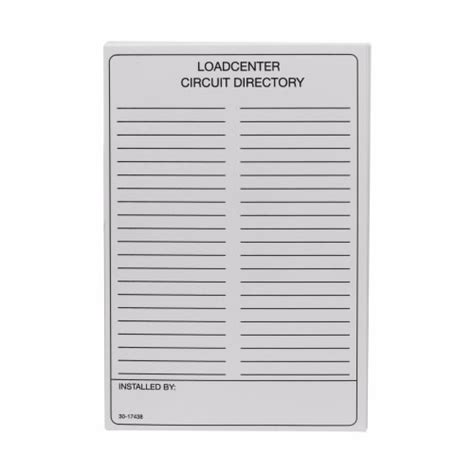 circuit directory card template cutler hammer dist ctrl electric supply inc