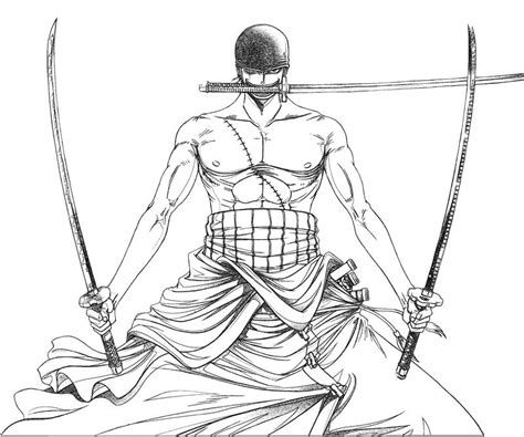 coloring page zoro zorro one piece coloring pages