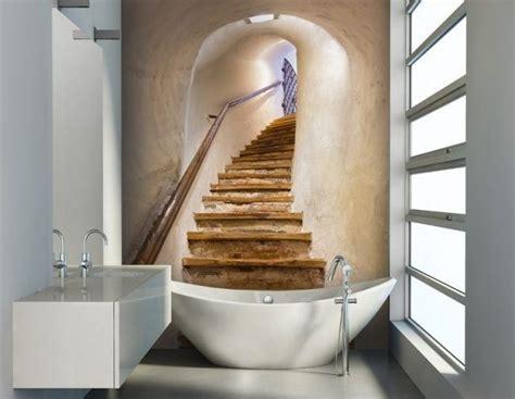 badezimmer wanddeko ideen badezimmer ideen f 252 r kleine b 228 der fototapete als