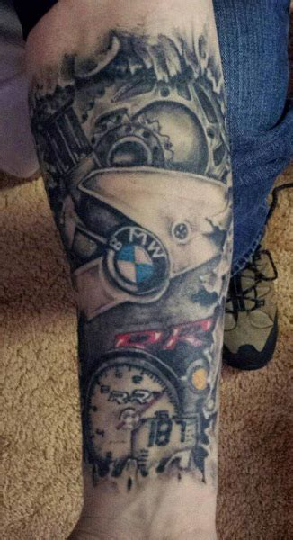 Motorrad Racing Tattoo by 60 Motorcycle Tattoos For Men Two Wheel Design Ideas