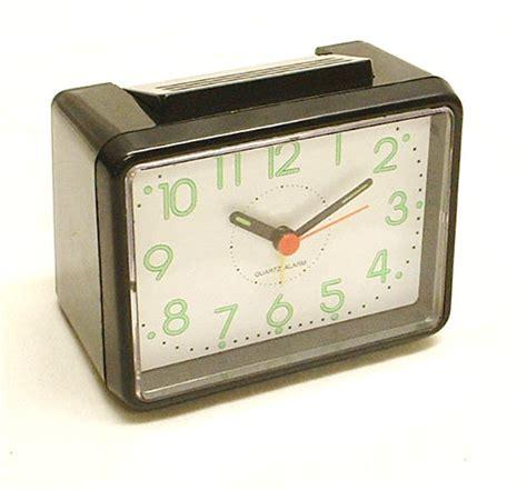 black analogue loud travel alarm clock quartz movement battery operated ebay
