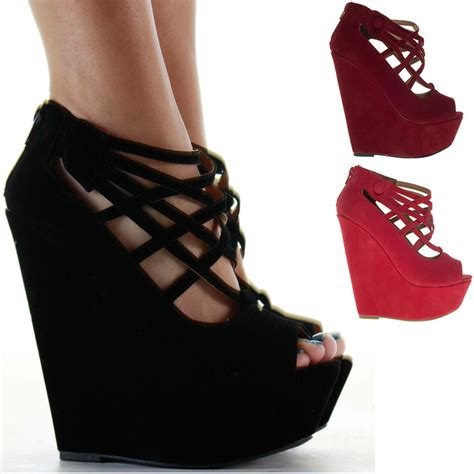 Boots Wedges Fashion Sandal High Heels Flat Shoes Murah wedge sandals high heel platform strappy wedges peeptoe boots shoes size ebay