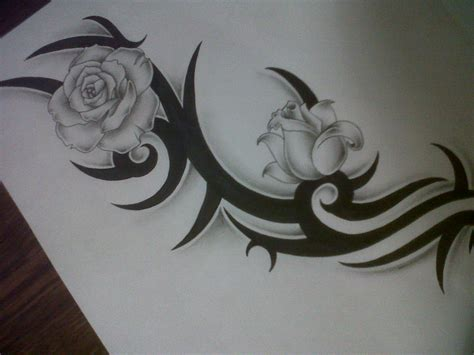 rose with tribal tattoo designs tribal design 2015