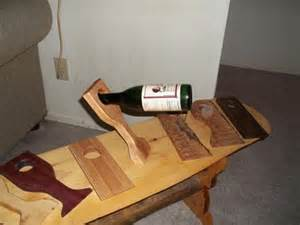 amazing Wood Wine Glass And Bottle Holder #3: 289813-438x.jpg