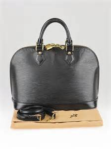 Jual Tas Lv Alma Epi Leather Black With Box Mirror Quality 1 louis vuitton black epi leather alma bag w shoulder