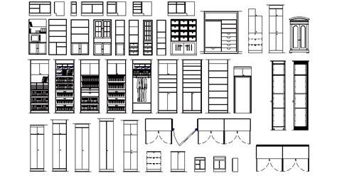 dwg libreria librer 237 as de bloques autocad muebles armarios en alzado