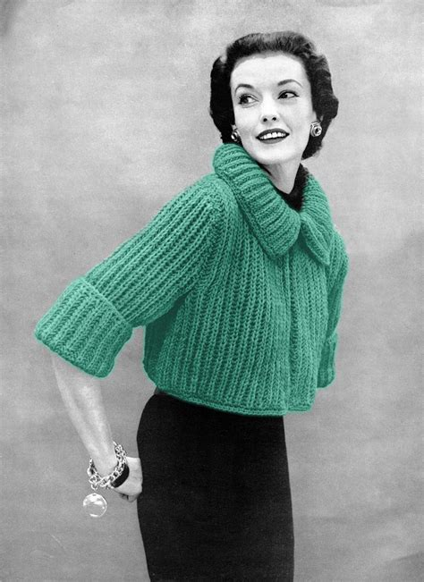 sweater knitting pattern musings from marilyn 187 fab 50s vintage bolero sweater