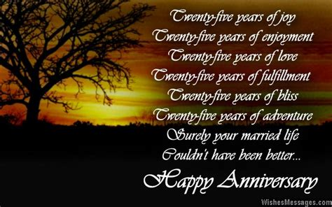 25th anniversary poems silver wedding anniversary poems page 3 wishesmessages