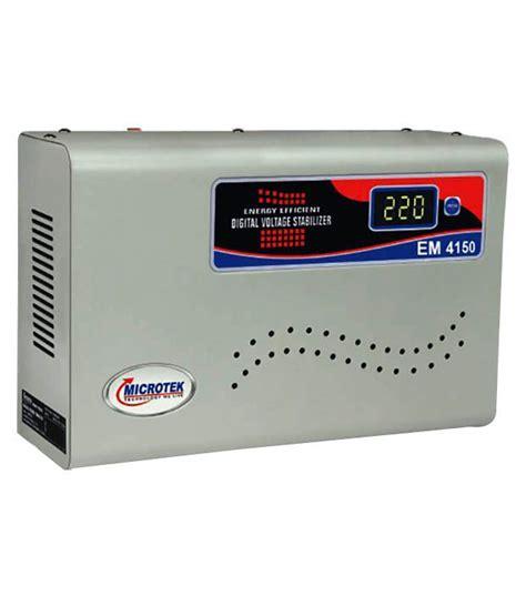 Ac Voltage Stabilizer Microtek Em4150 Voltage Stabilizer Upto 1 5ton Ac Price In India Buy Microtek Em4150