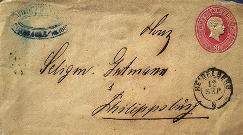 Brief Gtman die synagoge in rohrbach stadt heidelberg rhein neckar