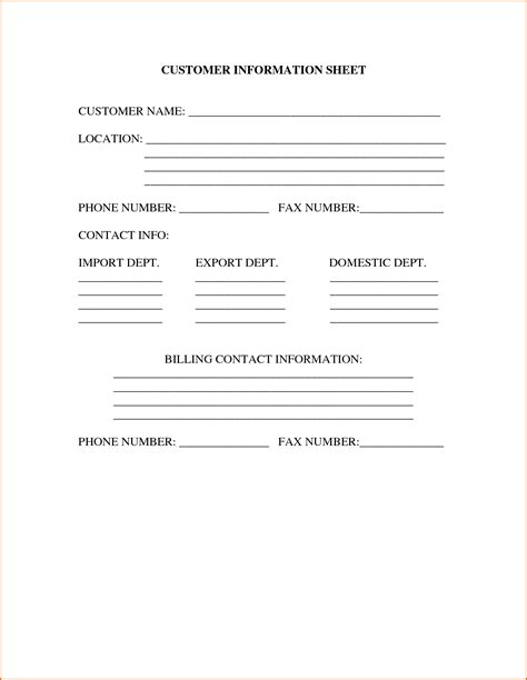 6 contact information sheet authorizationletters org