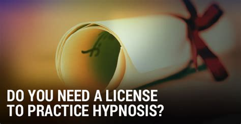 Do You Need A Permit To A Pit do you need a license to practice hypnosis