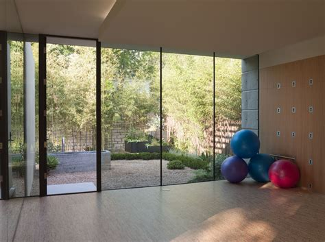 best designs home modern with workout room garden view