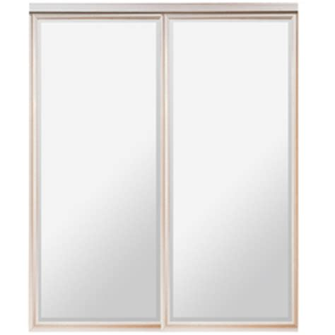 Mirrored Closet Doors Lowes by Shop Reliabilt 47 Quot X 80 Quot Mirrored Interior Sliding Door At