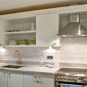 Flat Front Kitchen Cabinets White Beveled Kitchen Subway Tiles Transitional Kitchen