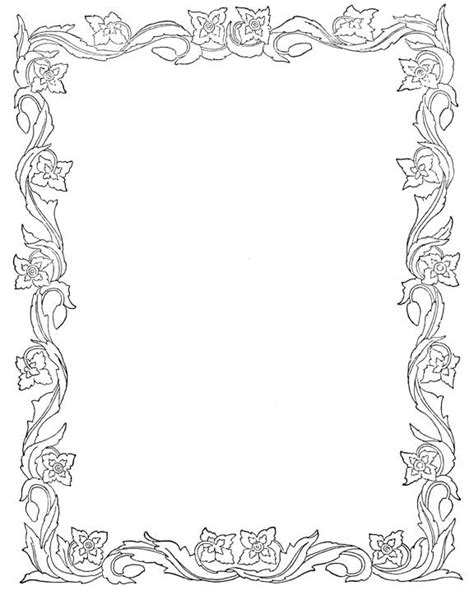 coloring pages of flower borders 13 best images of fourth of july printable worksheets
