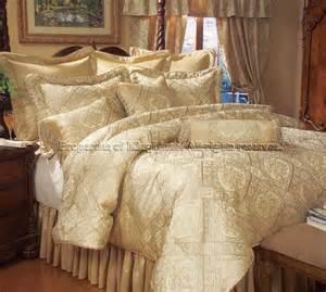 Bedroom Comforters And Curtains 18 King Gold Imperial Bed In A Bag W Sheet Set And Curtain Set Ebay